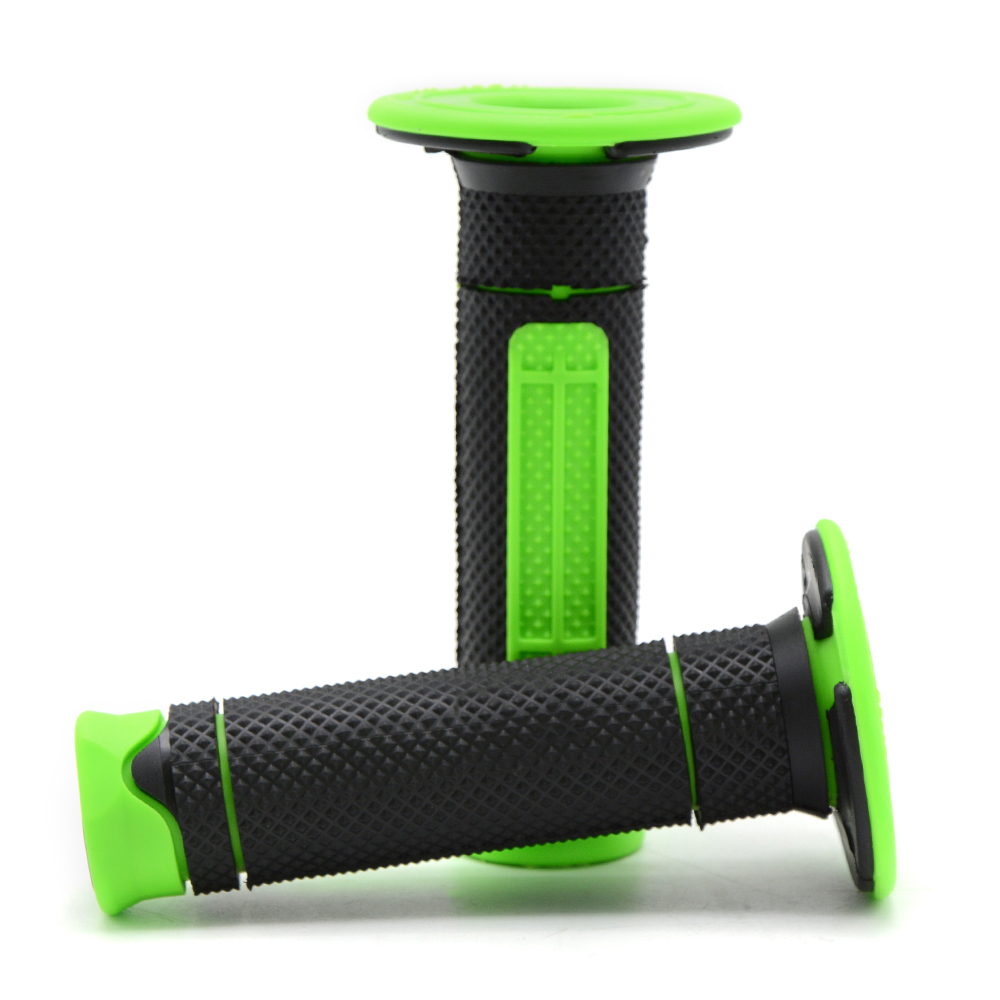 Green Motorcycle hand grips 7 8 quot 22mm gel rubber handle bar grips for Kawasaki KLX450R KX450F KLX250 KLR650 VERSYS 1000 VULCAN S in Grips from Automobiles amp Motorcycles