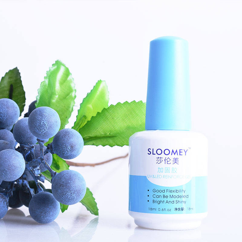 SLOOMEY 18ml Reinforced Gel Polish Nail UV Gel Clear Lacquer Primer Anastomosis Base Coat No Wipe Top Layer Sticky