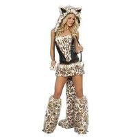 2017 Ograniczona Rzucili Disfraces Karnawał Kostium Halloween Big kobiet Xuebao Kigurumi Cosplay Gry Kostiumy Usług Zestaw Leopard