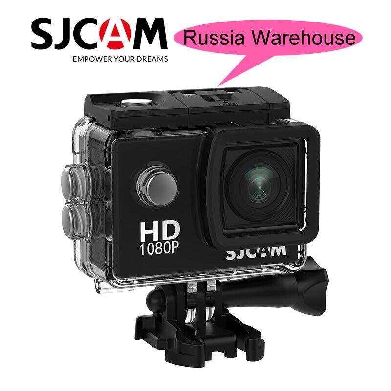 Navire de Russie!! SJCAM SJ4000 D'action Caméra 1080 p Full HD Sport DV 2.0 pouce Écran Plongée 30 m Étanche D'origine SJ 4000 cam