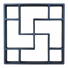 Square Plastic Floor Mould DIY Paving Concrete Mold Garden Lawn Path Stone Mold Paving Brick Tile Manufacturing