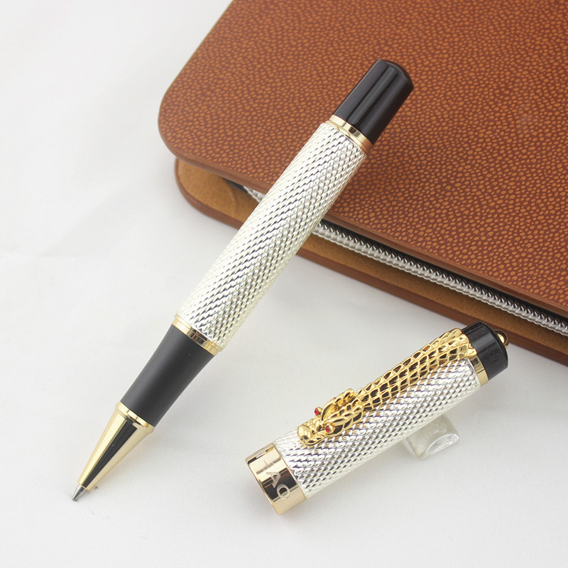 Jinhao Ancient Silver Chinese Oriental Dragon Rollerball Pen with Box Free Shipping  Jinhao Ancient Silver Chinese Oriental Dragon Rollerball Pen with Box Free Shipping