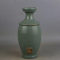 6 Antique SongDynasty porcelain pot, Ru Kiln Green glaze bolt cap bottle,hand painted crafts,Decoration,Collection&Adornment