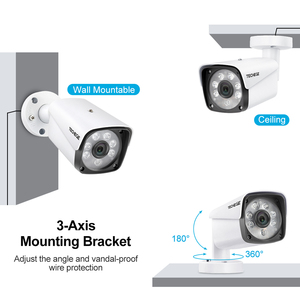 Image 2 - Techege 8CH 1080P אבטחת מצלמה מערכת 8ch DVR 1080P HDMI פלט וידאו עמיד למים Bullet מצלמה 2MP מצלמה מעקב ערכת