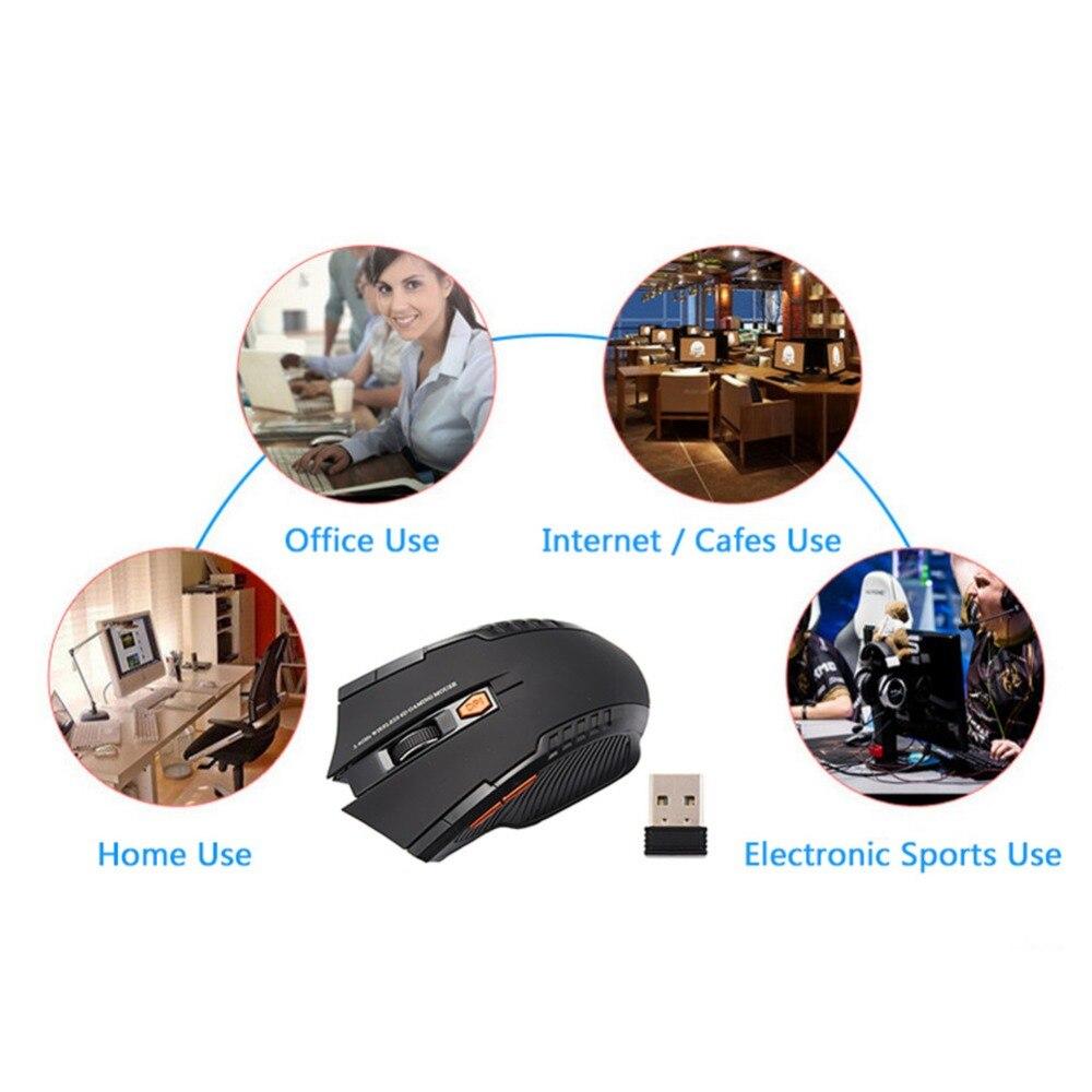 20 pièces/sac chaud Mini 2.4 GHz souris optique sans fil Gamer pour PC ordinateurs portables de jeu nouveau jeu souris sans fil avec récepteur USB - 5