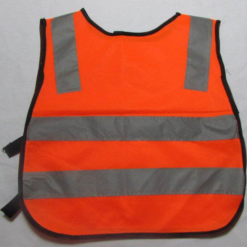 Safety vest Details Children Safety Waistcoat Vest Grey Reflective Strips Traffic Clothes Green Orange Safety Clothing