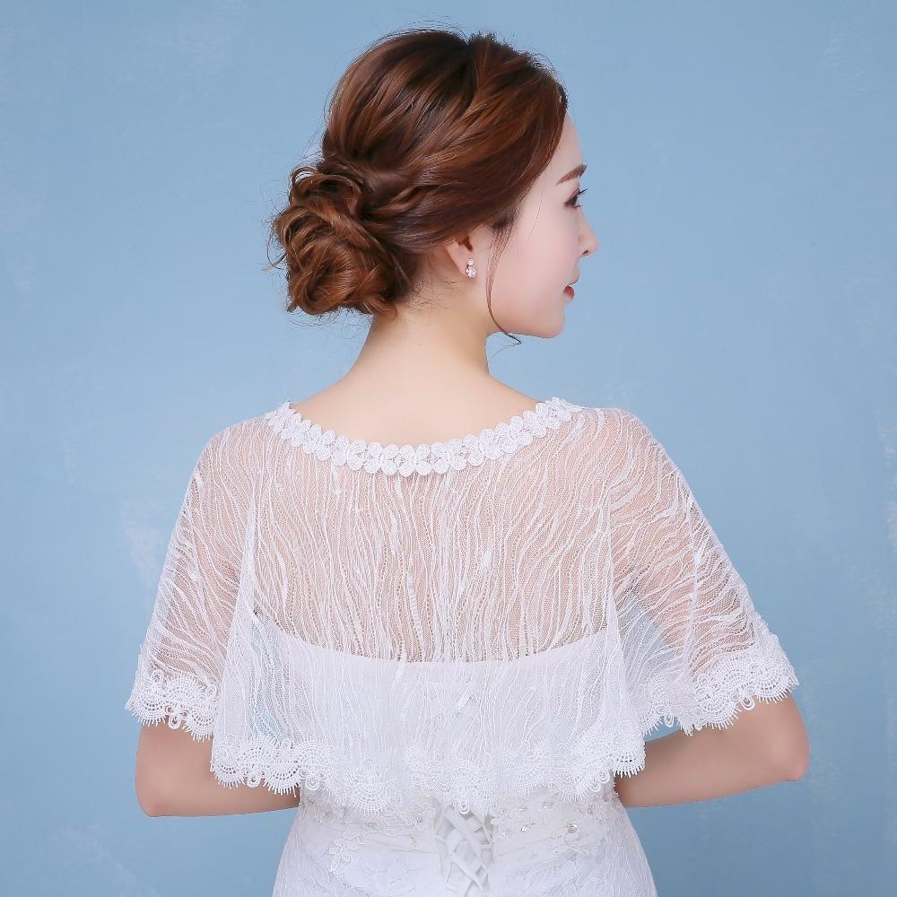 Cape Boleros Wedding White Sequin Lace Coat Wedding Stoles Bridal ...