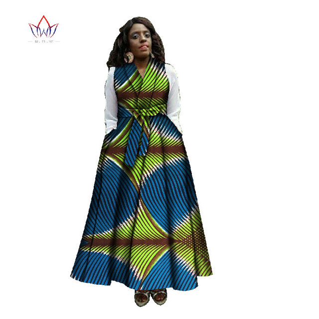 BRW V-Neck African Dress for Women Autumn robe africaine bazin embroidery  traditional african riche bazin Femme Plus Size WY824 a7a33478b788