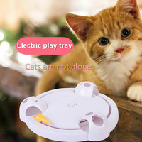 Hot selling electric cat toys turntables crazy rides catching mice dogus pet supplies