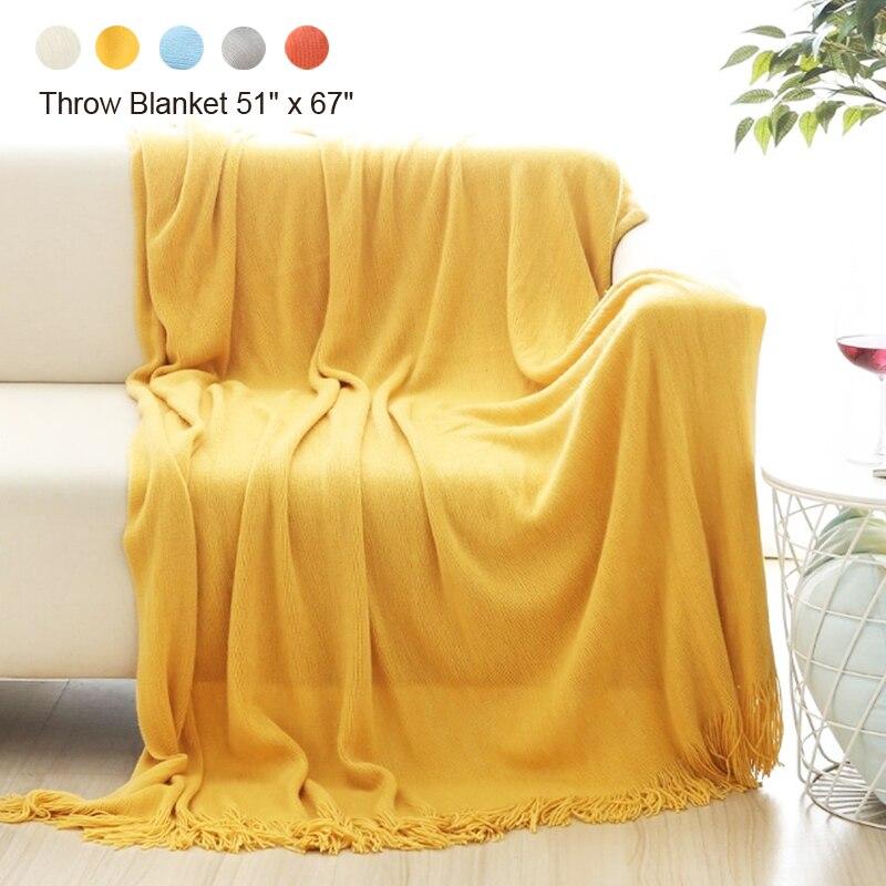 Throw souple Couverture Parfait Cadeau Chaud et Confortable pour Canapé Canapé Lit Plage Voyage pour Canapé Canapé Lit Plage Voyage 130*170 cm