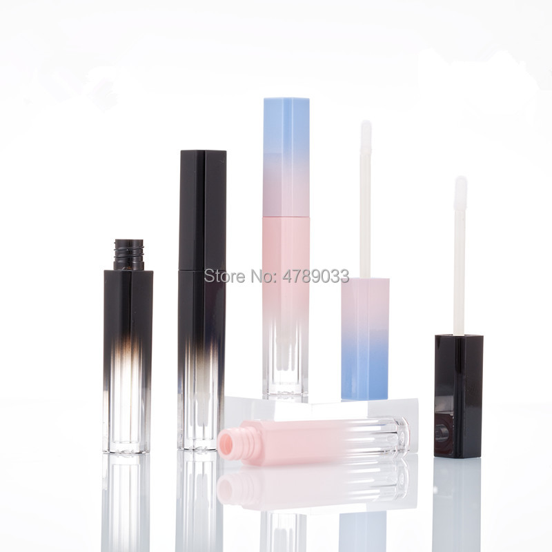10/30pcs Gradient Pink/Black Empty Lip Gloss Tube Lips Balm Bottle Brush Container Mini Refillable Lipgloss Bottles Beauty Tool image