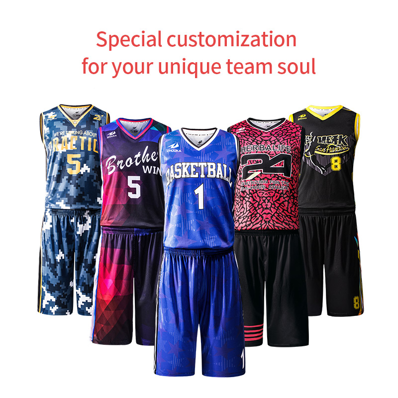 Free Custom sublimation Team basketball jersey Men basketball suit Set 100 Polyester DIY Name Number Logol basketball uniform in Basketball Jerseys from Sports Entertainment