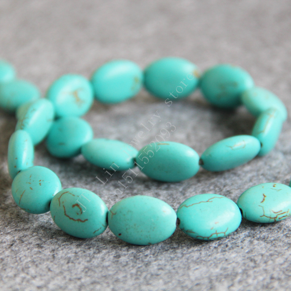New without tags Fashion beautiful beads Jewelry 13x18MM Blue Turkey Stone CAB Cabochon T8039