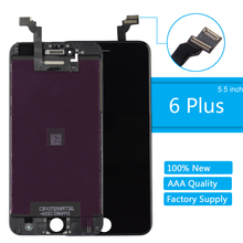 for iPhone 6 plus LCD Display Screen High Quality LCD Digitizer Assembly for iPhone 6 plus 5.5'' Replacement Screen White Black цена и фото