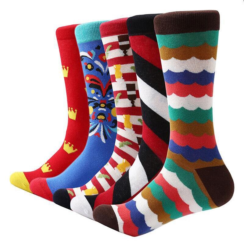 MYORED 5 pair lot men socks cotton casual dress mens funny socks novelty socks man casual dress gift socks street wear in Men 39 s Socks from Underwear amp Sleepwears