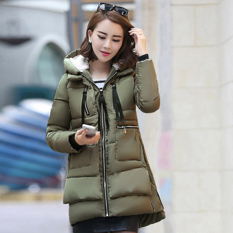 1PC Winter Jacket Women Military Coats Plus Size Thickening Cotton Hooded Parkas For Women Winter Coat Chaquetas Mujer 1001-98 women winter coat thickening cotton padded clothing hooded parkas casual warm jacket women large size coat chaquetas mujer c3204