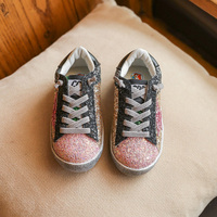 2017 NEW HOT Toddler Baby Glittler Shoes Girl Star Sneakers Boy Sports Shoes Baby Kids Causal