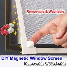 Регулируемый DIY настраиваемый магнитный экран окна для автодомов съемный моющийся Невидимый Летающий москитный экран сетка