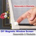 Регулируемые DIY настраиваемые магнитные оконные окна для автодомов съемные моющиеся невидимые летающие москитные сетки