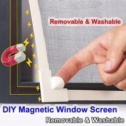 Ajustável diy personalizar janelas de tela da janela magnética para motorhomes removível lavável invisível mosquiteiro tela malha líquida