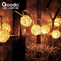 HOT 3M Rattan Balls String Lights,Handmade Garland,strip lights,Fairy Christmas Home Pendant Decoration Curtain Lamp