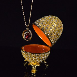 Image 5 - QIFU מתכת זהב פסחא פברז ה ביצת מלאכות תכשיט תיבת בית תפאורה