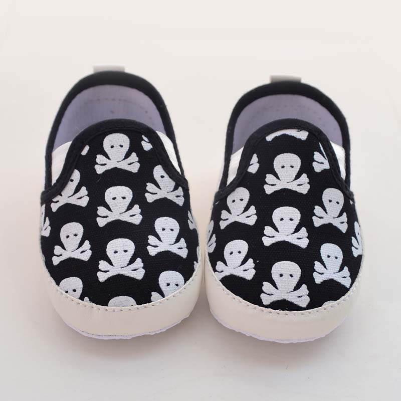 Cute Baby Skull Design New Infant Toddler Shoes Unisex Kids Soft Non-slip Babies Shoes 2016 New Hot Sale Baby First Walkers