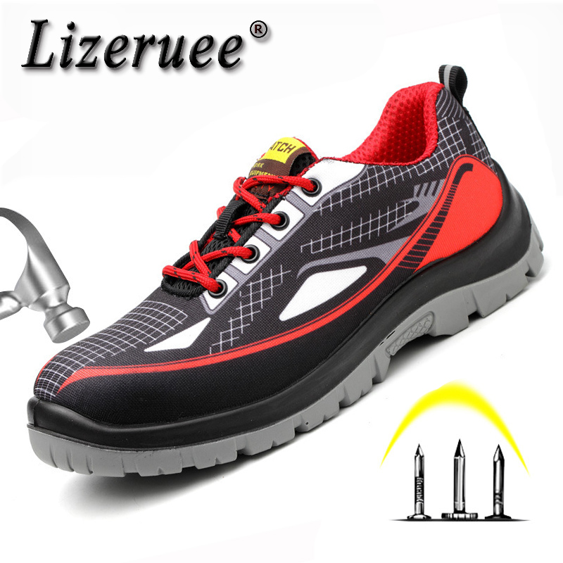Safety Shoes For Men Stylish Steel Toe Man Work for & Safe Light Mesh Boots Protection