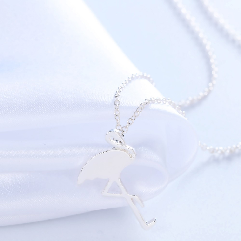 CHENGXUN 10pcs/lot Wholesale Unique Flamingo Necklace for Women and Girls Fashion Jewelry Free Shipping