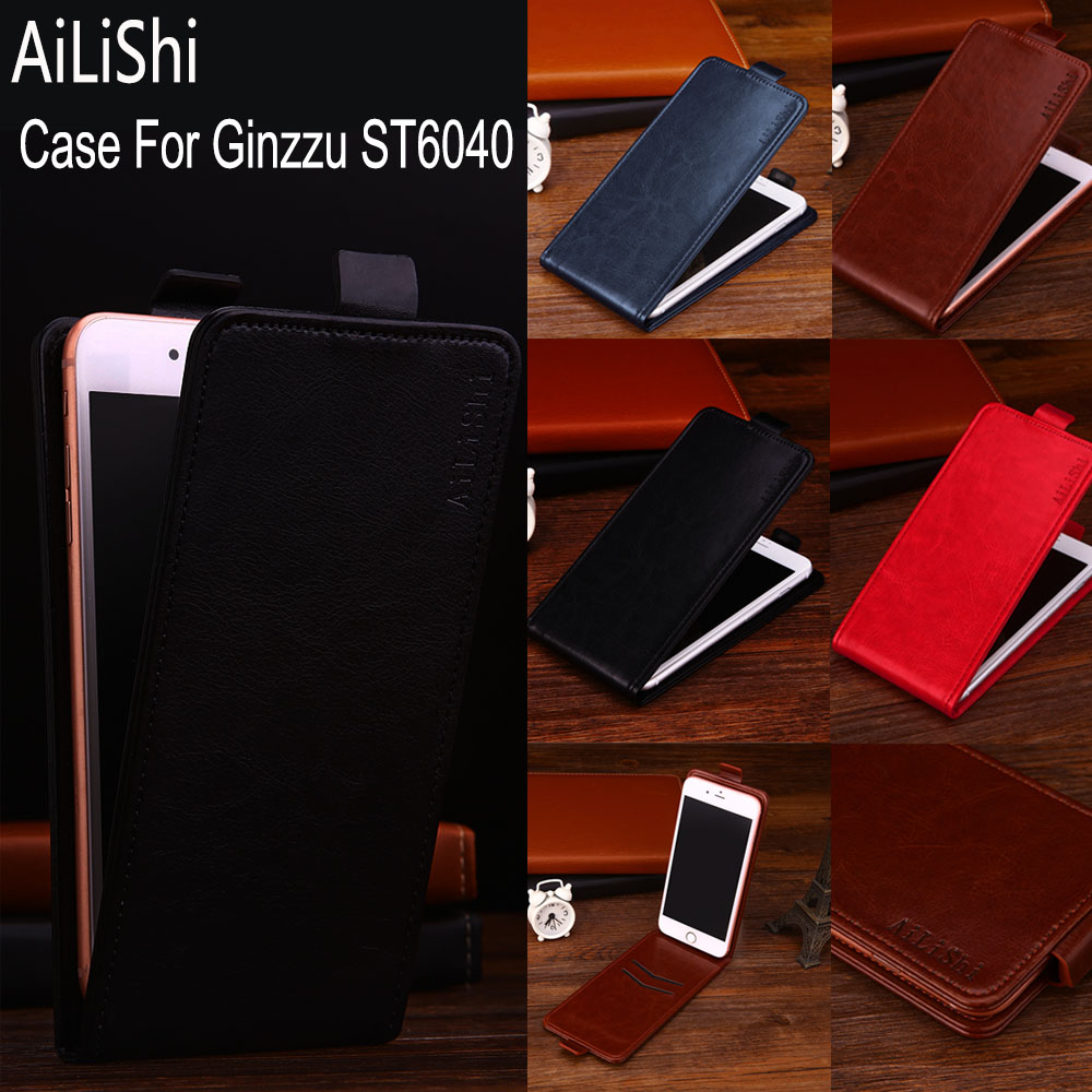 AiLiShi Factory Direct! Case For Ginzzu <font><b>ST6040</b></font> Leather Case Flip 100% Special Phone Bag With Card Slot + Tracking image