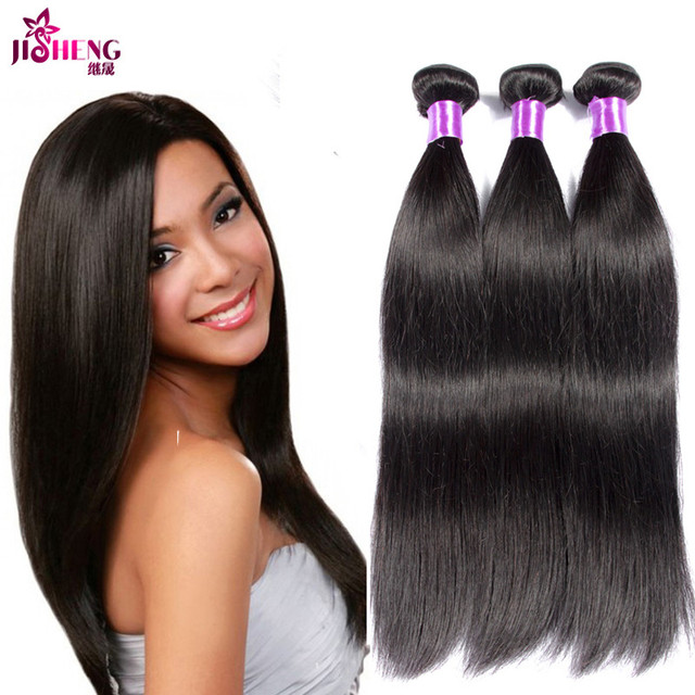 US $54 3 |Ms here hair company Raw Indian hair bundles 3 pcs unprocessed  Indian human hair weave 9A Best Indian straight bundles for sale on