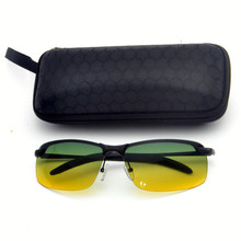 65dc141f09 2019 Frameless metal Men Day Night Dual-Use Polarized rectangle Sunglasses  Car Driving UV400 Sun