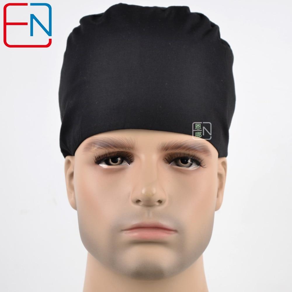 New Unisex Surgical Caps 100% Cotton Pure Black