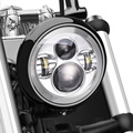 7 Inch Chrome Crees LED Projector Daymaker Hi/Lo Beam Headlight for Harley Davidson Motorcycle Headlight 7 IN Motorcycle Harley
