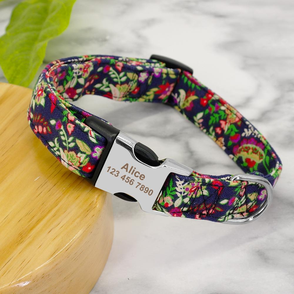 Collar personalizado de Nylon para mascota 7