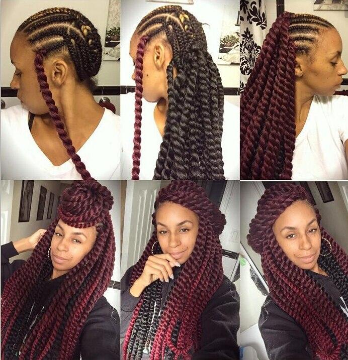 Havana Mambo Twist Crochet Braid Hair 20 Synthetic Ombre Kinky
