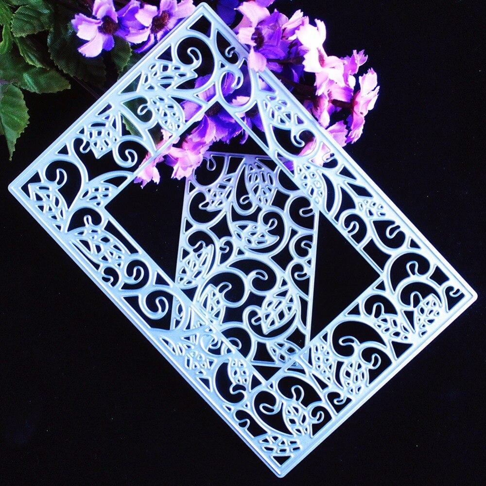 Nuevo DIY lindo encaje marco forma scrapbooking corte de acero ...