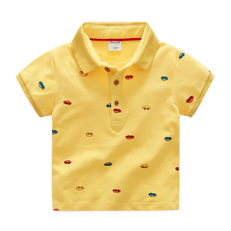 6f7fa736c ... 2018 niños ropa de verano de algodón de estilo camiseta para niño Polo  camisas coches de ...
