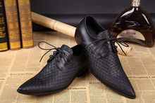 Chaussure Homme Alligator Shoes For Men Genuine Leather Mens Low Heels Pointed Toe Classic Italian Brands Loafers