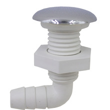 Hot tub twisting bow bubble air nozzle,spa jet with Chrome plating,Massage Bathtub 29mm face