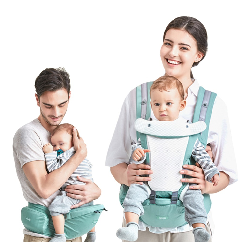 Baby Breathable Front Facing Baby Carrier Infant Comfortable Sling Backpack Pouch Wrap Baby Kangaroo Baby Hipseat