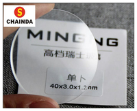 Free Shipping High Quality Assortment of 1.2mm Thick Single Dome Convex Round Mineral Glass for Watch Replacement