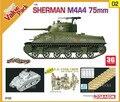 Dragão 9102 1/35 Sherman M4A4 + DS faixa de tanque americano corpo kits modelo modelo de montagem de construção scale
