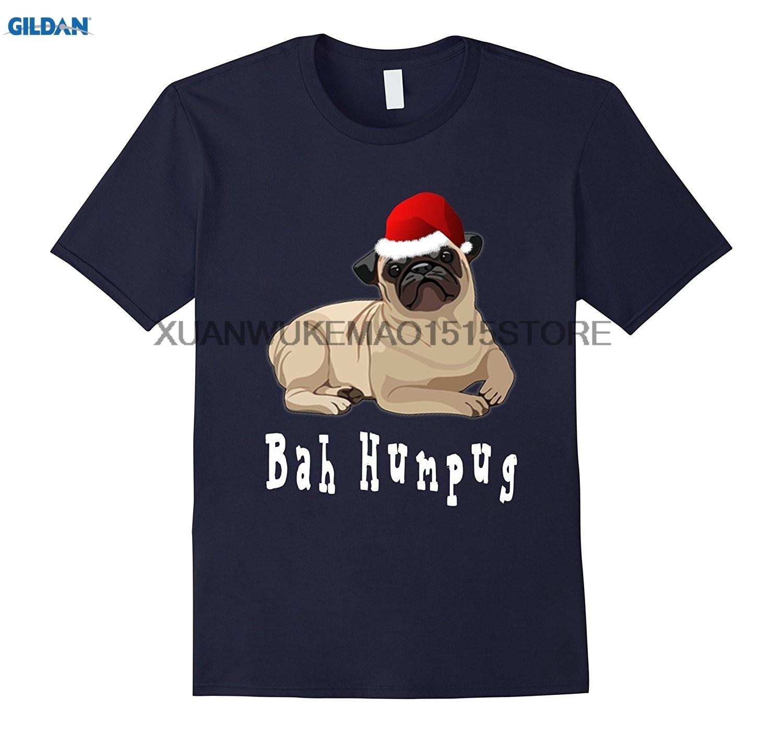 Возьмите 100% хлопок о-образным вырезом Футболка с принтом Бах Вздор Рождество Мопс футболка