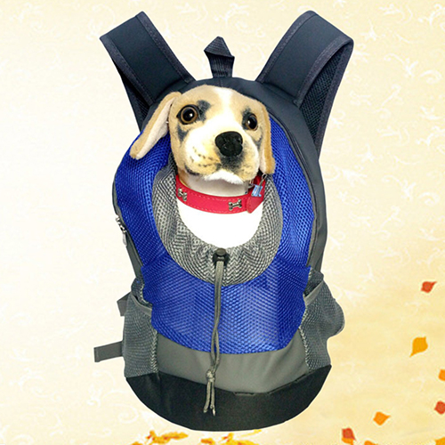 Dog Cat Puppy Head Out Front Drawstring Carrier Oxford Fabric Backpack Travel Bag 09WG
