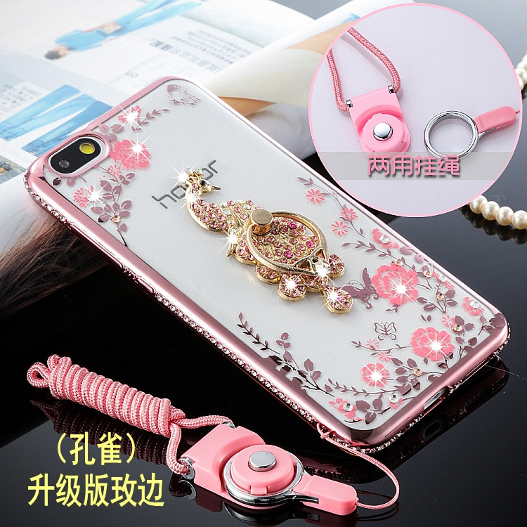 huawei honor 4x case High Quality fit female with Diamond belt buckle bracket TPU case for
