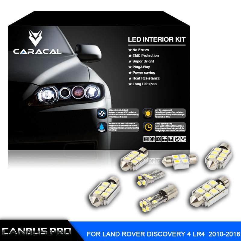 27pcs Error Free Xenon White Premium LED Interior Light Kit for Land Rover Discovery LR4 2010