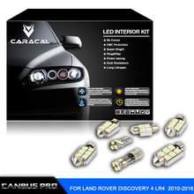 27pcs Error Free Xenon White Premium LED Interior Light Kit for Land Rover Discovery  LR4 2010-2016 with  Free Installation Tool