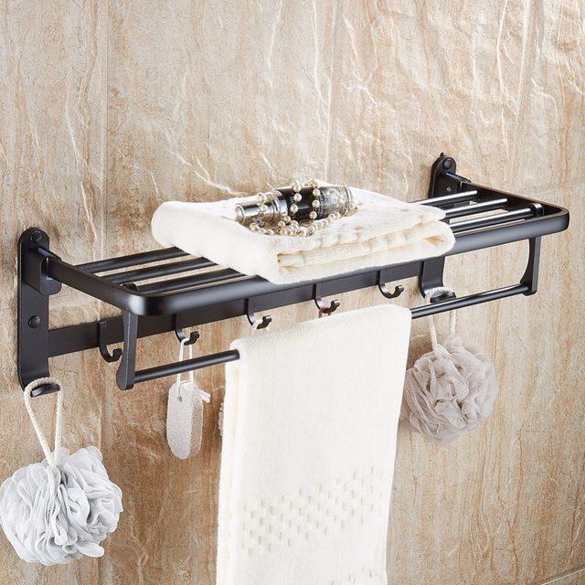 Online Shop Zwarte Ruimte aluminium Wandmontage Opvouwbare Badkamer ...