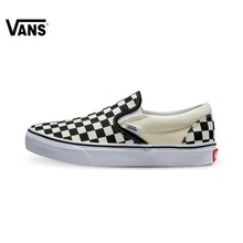 Original Vans Classic Black and White Grid Unisex Skateboarding Shoes sports Shoes Canvas Shoes Sneakers free shipping(China)